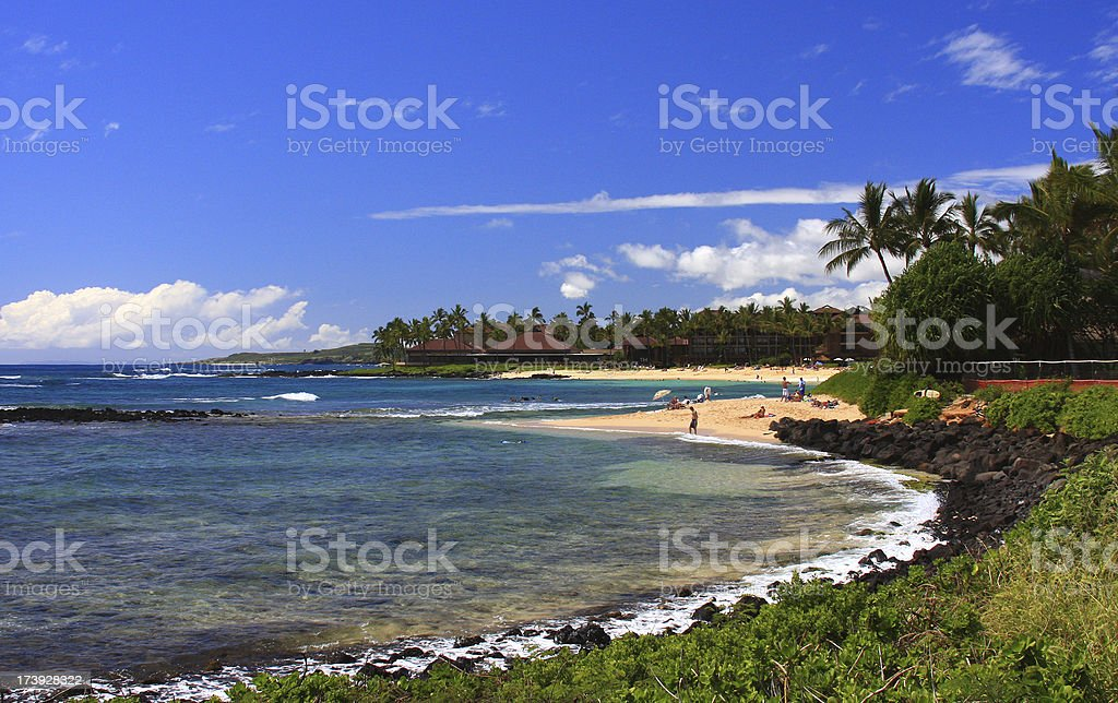 Kauai Hawaii beach scenic stock photo
