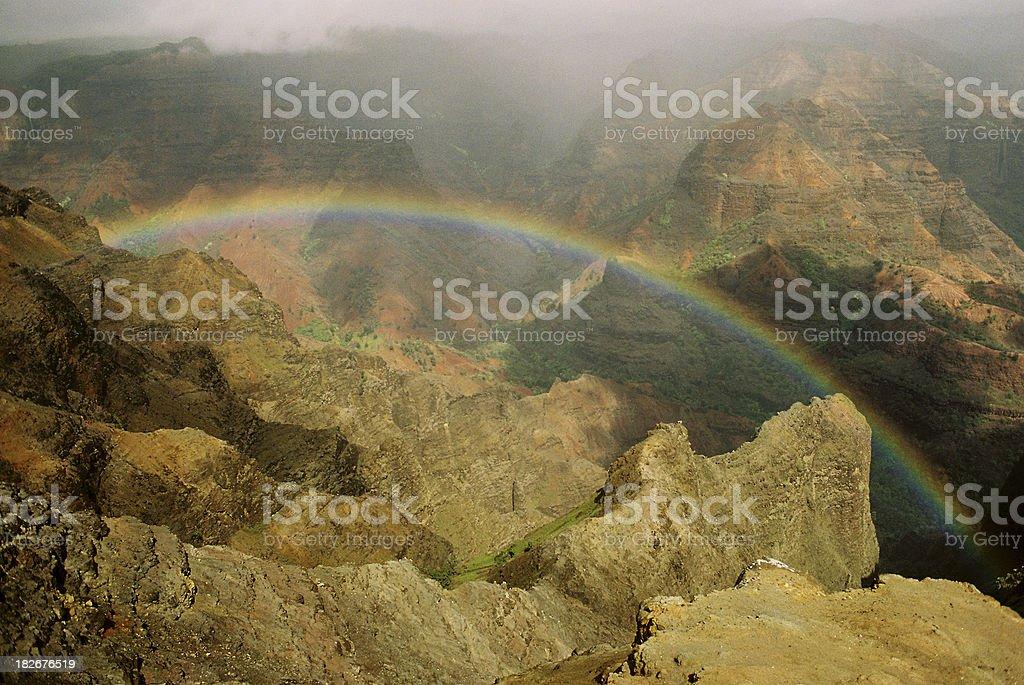 Kauai Hawaii rainbow valley stock photo