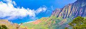 Kauai mountains and beach