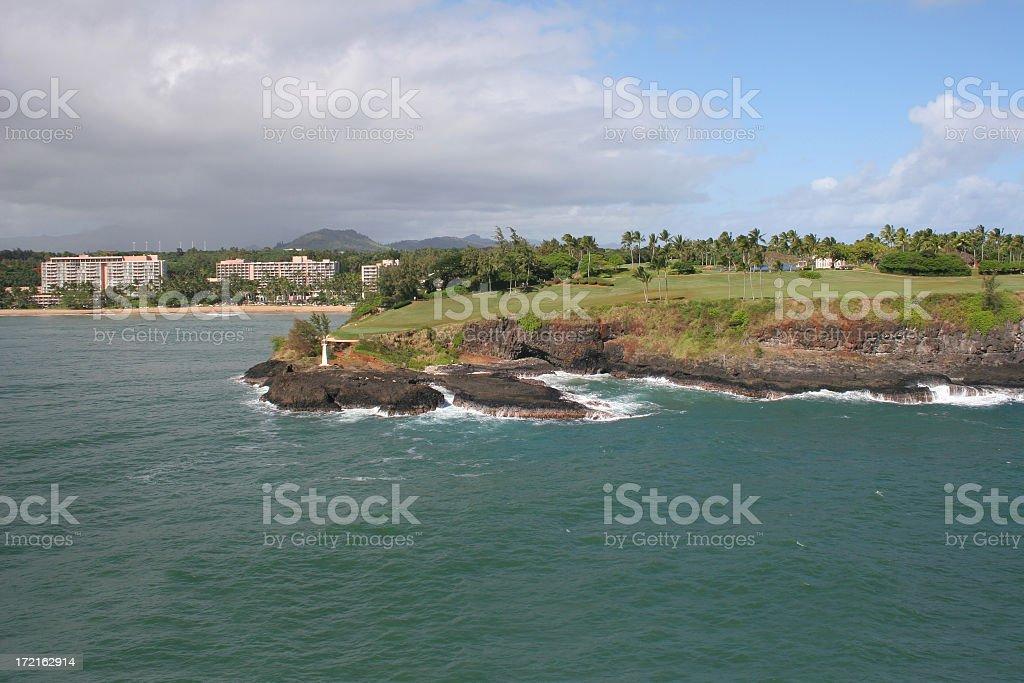 Kauai hotel and golf course stock photo