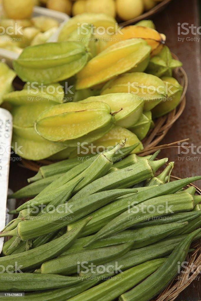 Kauai: Okra and Starfruit stock photo