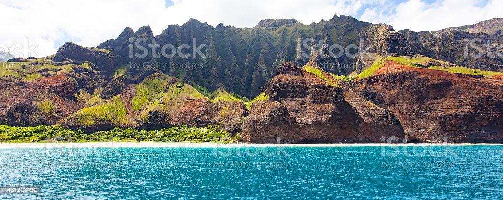kauai panorama stock photo