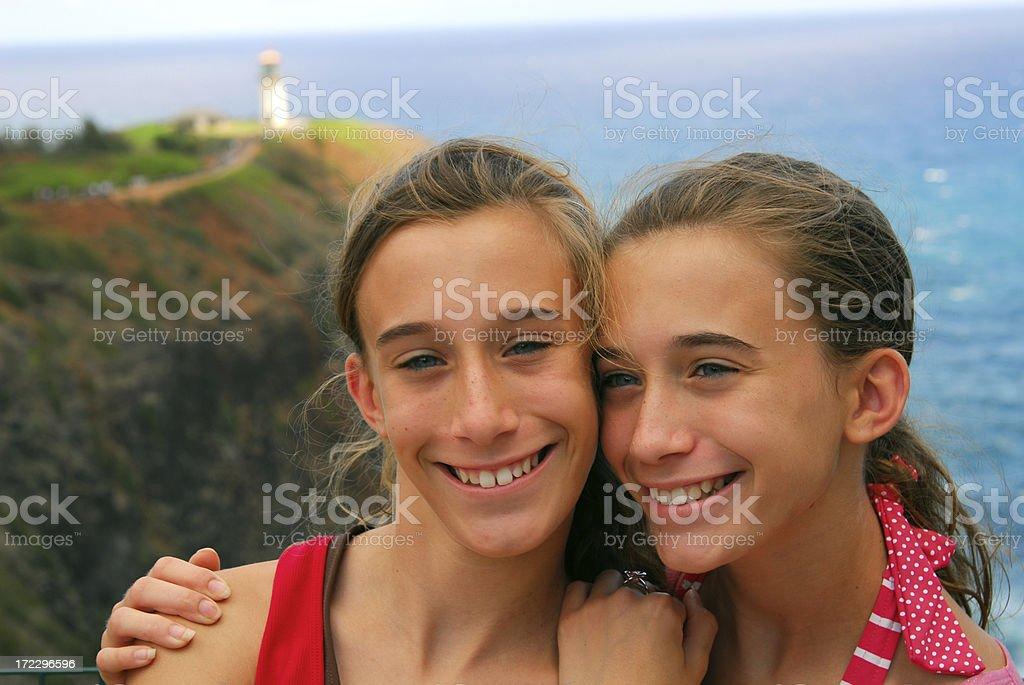 Kauai Sisters royalty-free stock photo