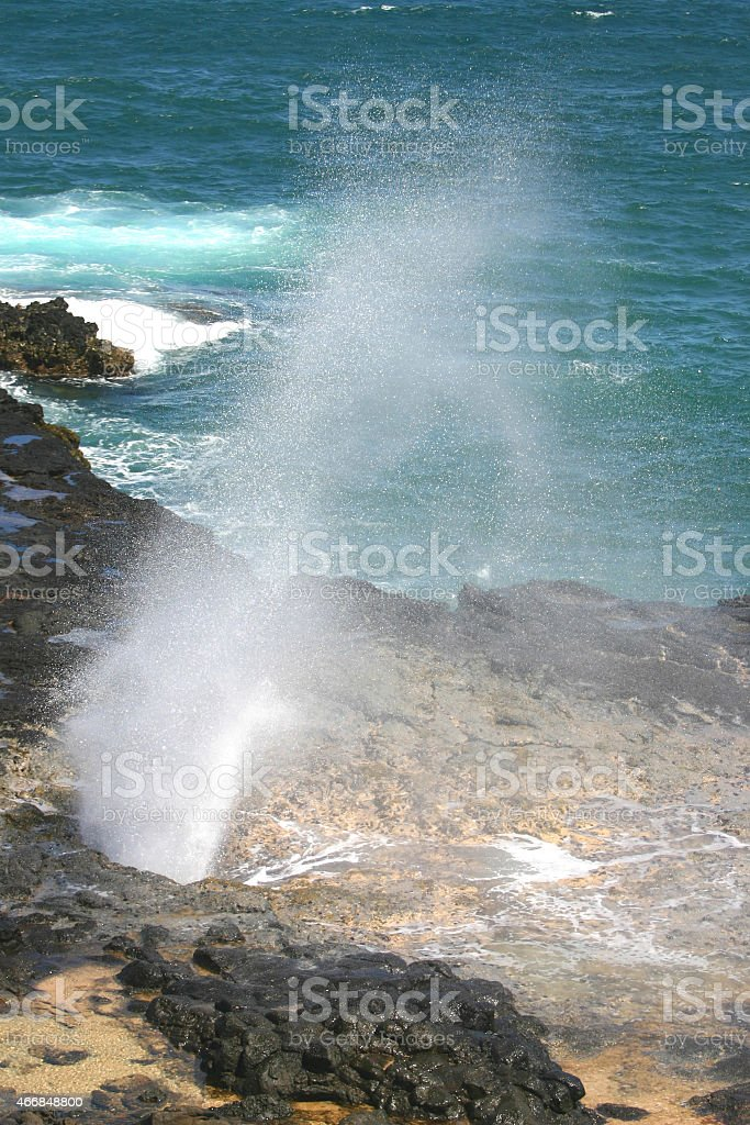 Kauai Spouting Horn stock photo