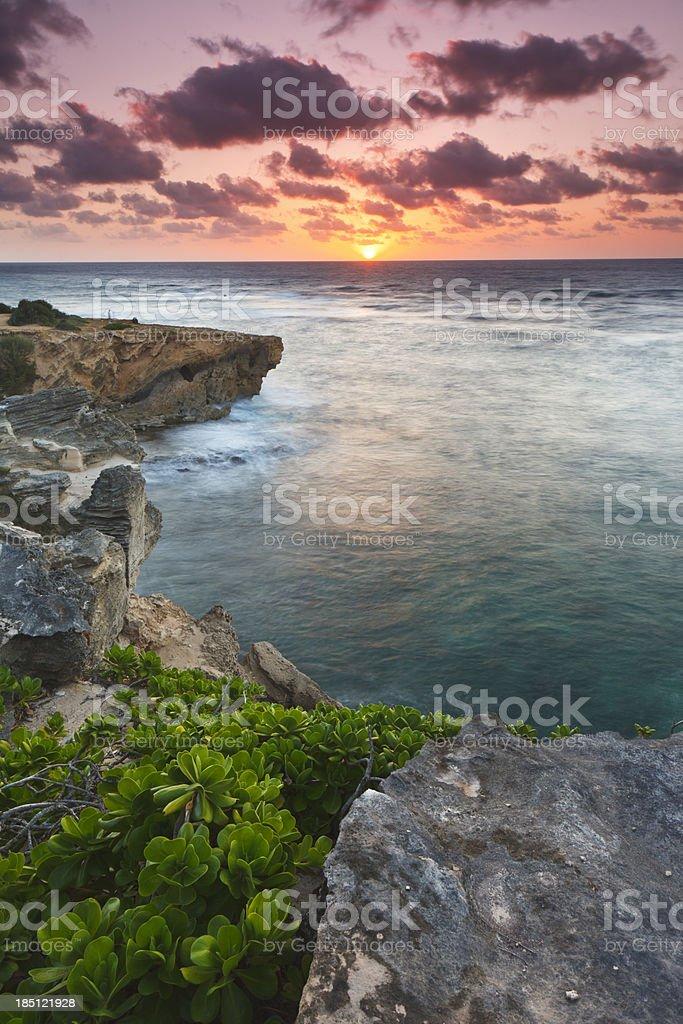 Kauaian Sunrise (vertical) stock photo