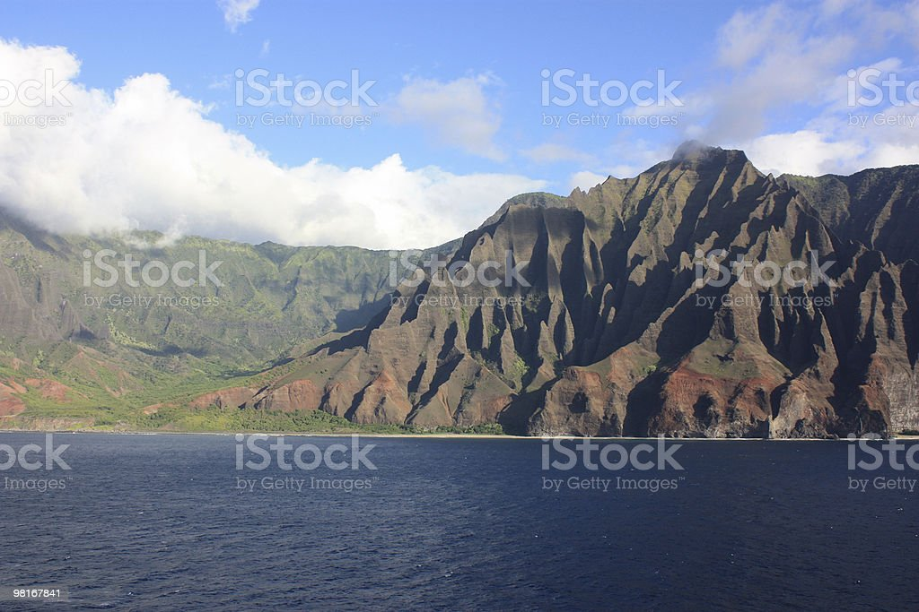 Kauai's Na Pali Coast royalty-free stock photo