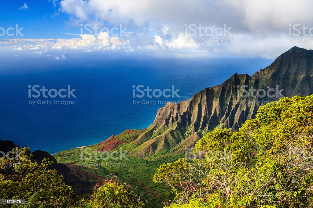Kauai's Rugged Na Pali Coast stock photo