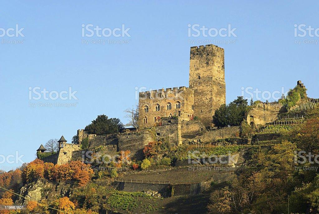 Kaub castle Gutenfels stock photo