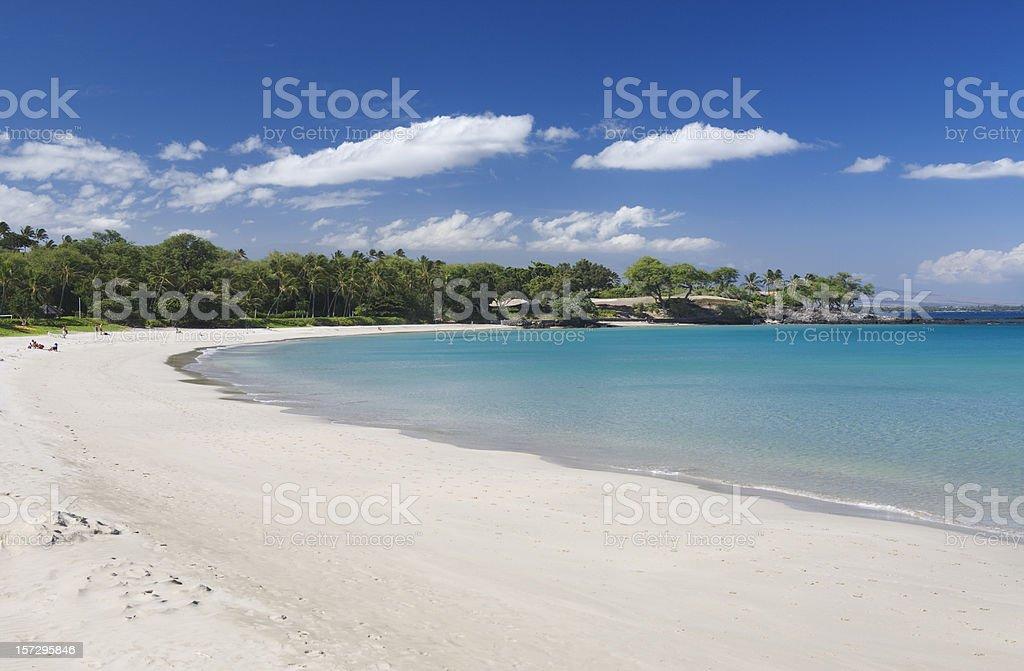 Kauna'oa Beach, Hawai`i stock photo
