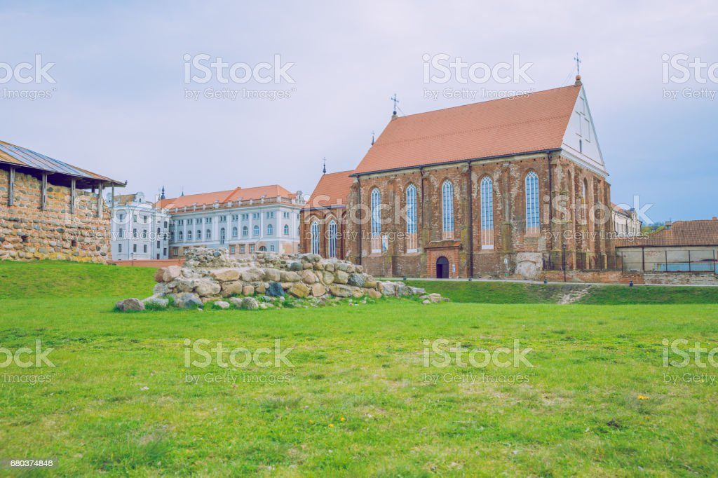 Kaunas, Lithuania 2017, Nature, buildings, trees and beautiful view. royalty-free stock photo