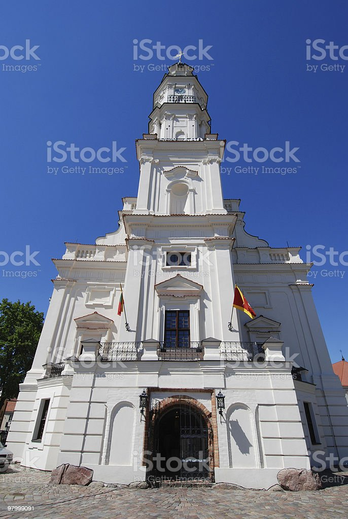 Kaunas town hall royalty-free stock photo