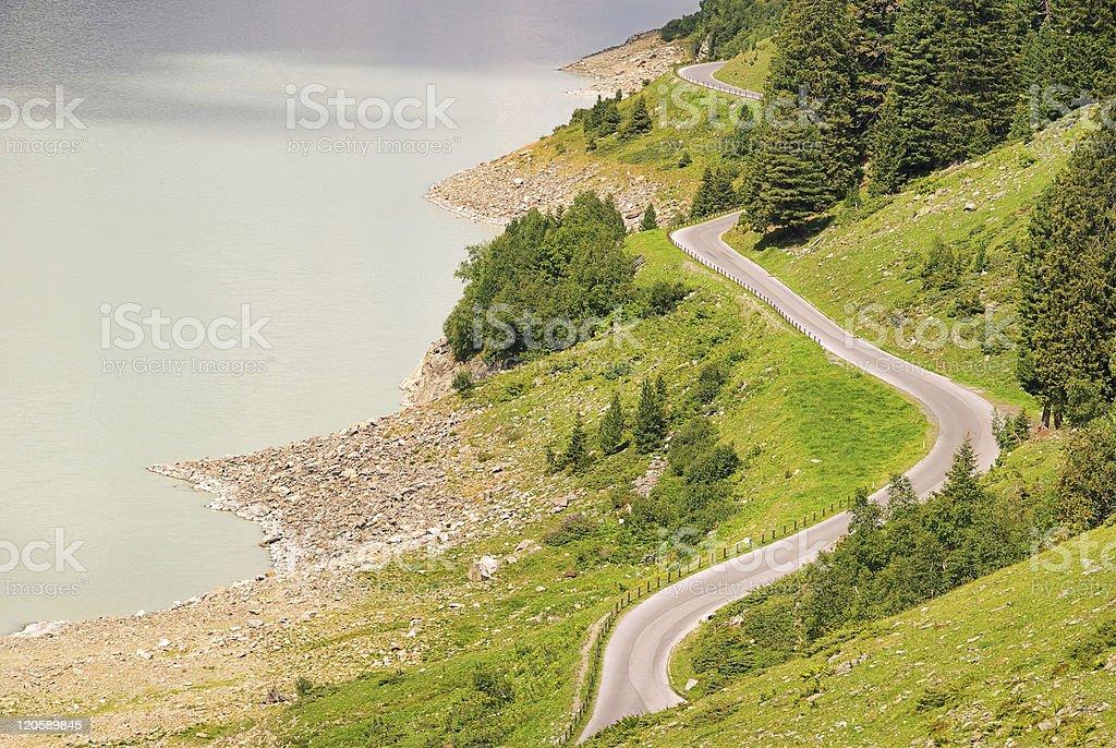 Kauner valley glacier road royalty-free stock photo