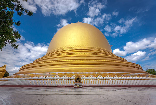Kaungmudaw Pagoda in Sagaing, Myanmar stock photo