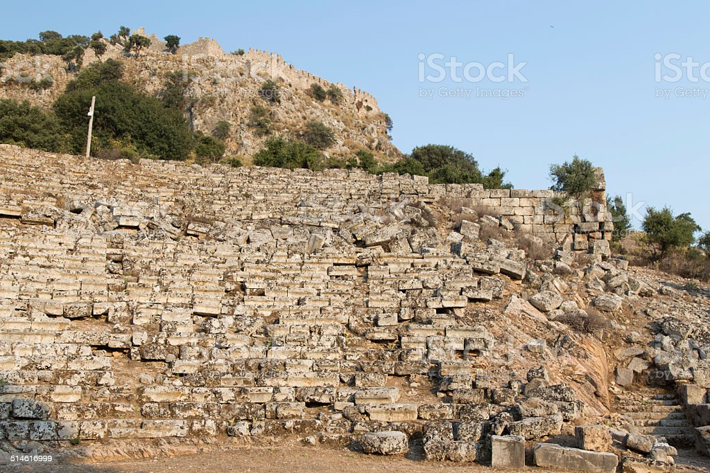 Kaunos amphitheatre stock photo