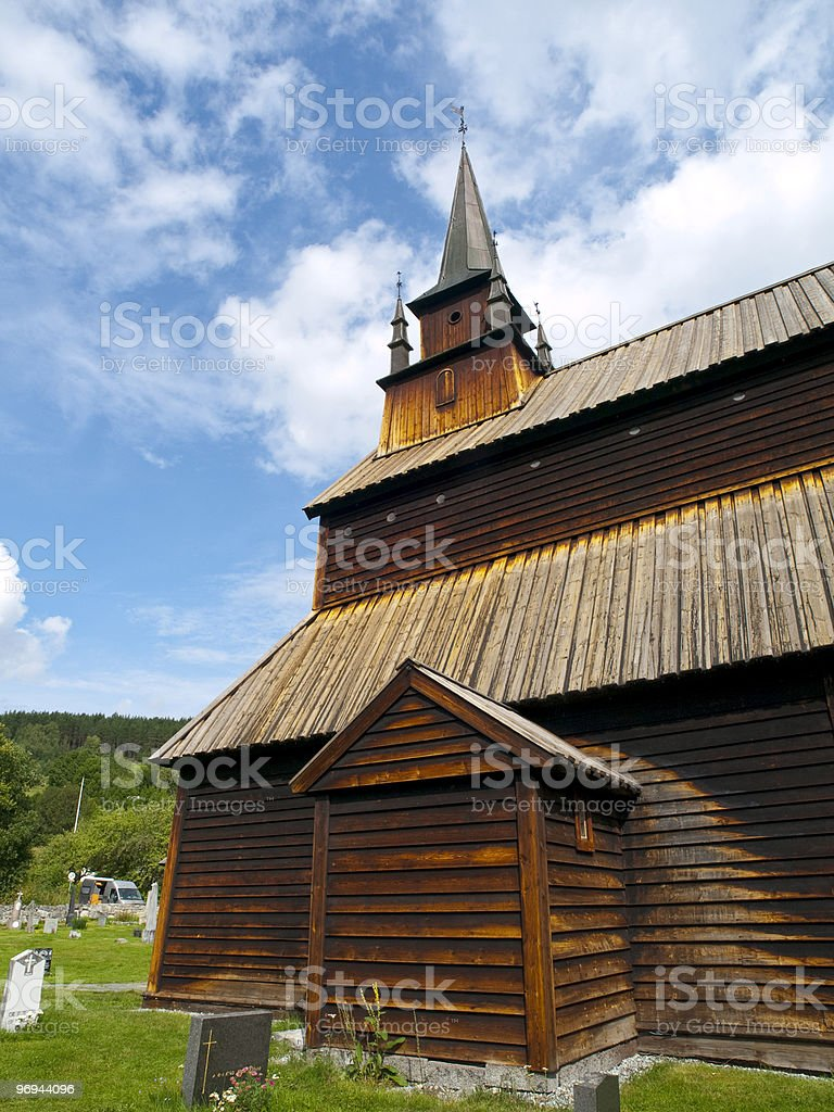 Kaupanger Church in the Sognefjord royalty-free stock photo