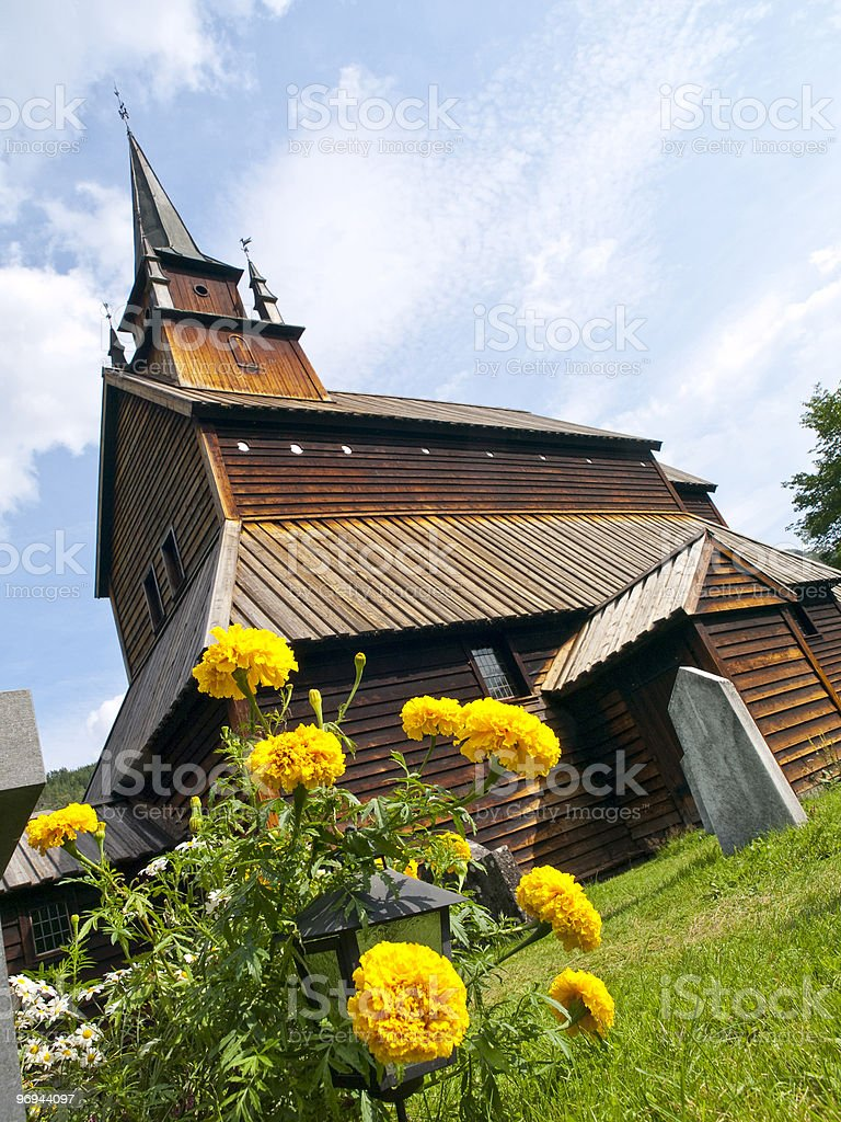 Kaupanger Church royalty-free stock photo