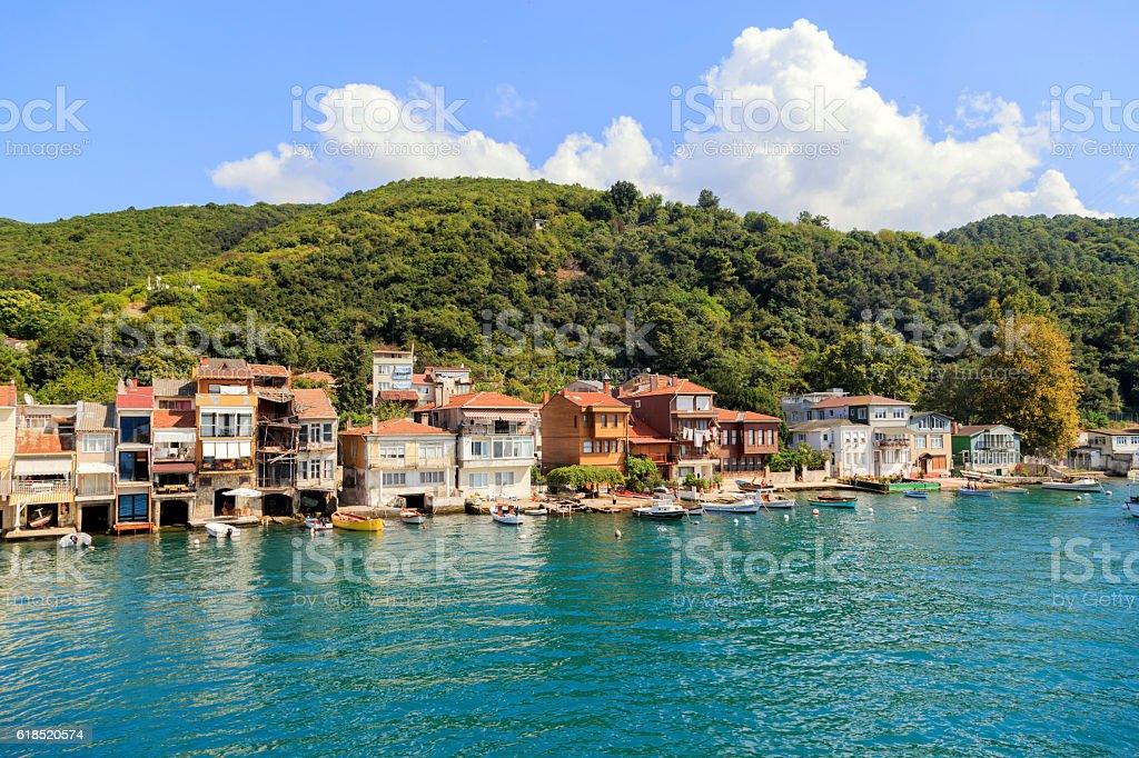 Kavagi village, Istanbul,Turkey. stock photo