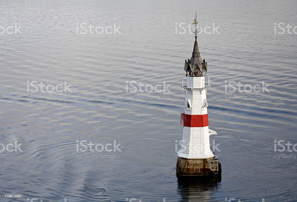 Kavringen lighthouse in Oslo Harbor royalty-free stock photo