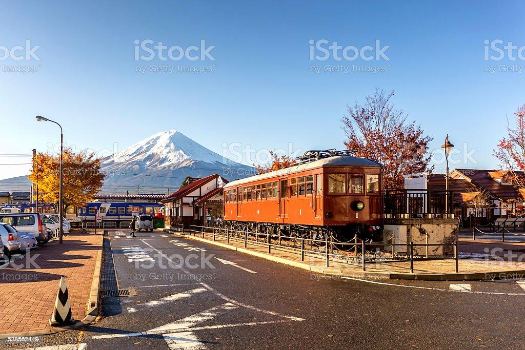 Kawaguchiko Station in Fujikawaguchiko stock photo