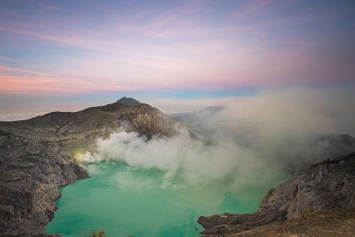 Kawah Ijen Crater Banyuwangi Indonesia Stock Photo - Download Image Now