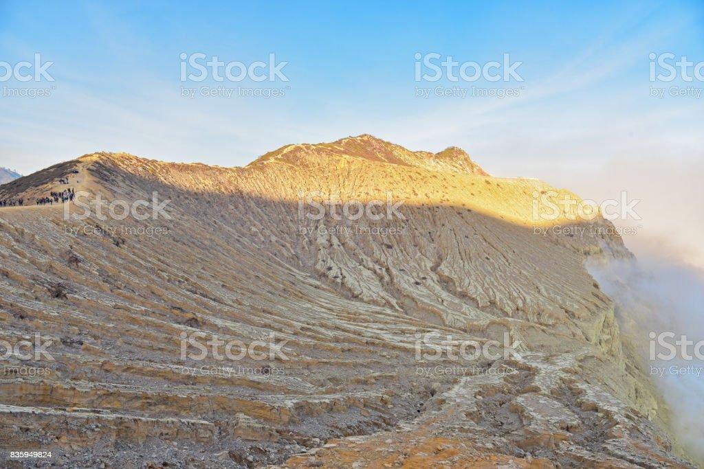 Kawah Ijen crater in East Java stock photo