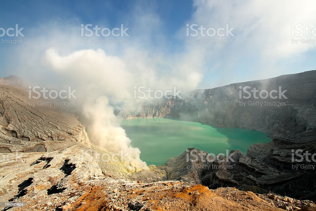 Kawah Ijen crater royalty-free stock photo