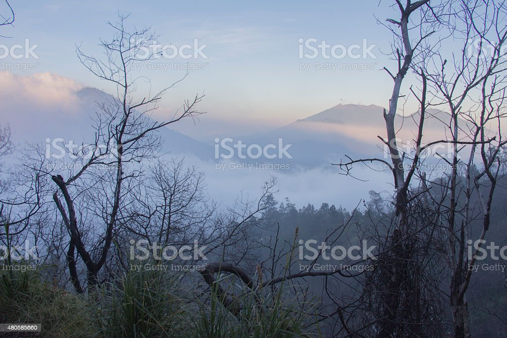 Kawah Ijen, Java, Indonesia stock photo