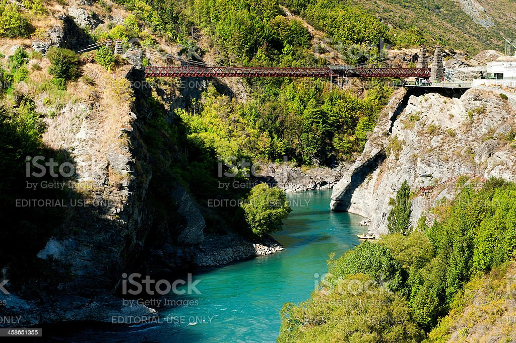 Kawarau Bridge - the home of Bungy royalty-free stock photo