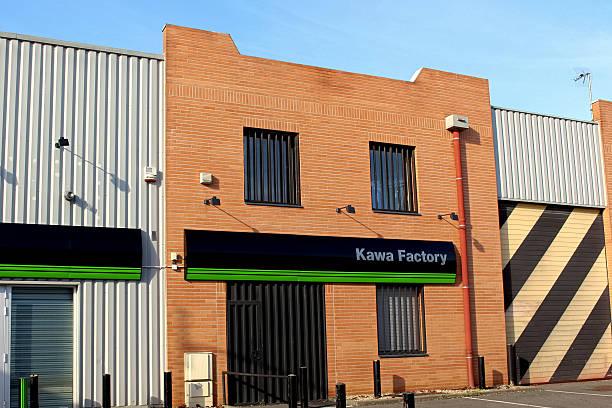 Kawasaki Factory store Pontault Combault, France - November 8, 2015: This is a photograph of a Kawasaki store. kawasaki heavy industries stock pictures, royalty-free photos & images