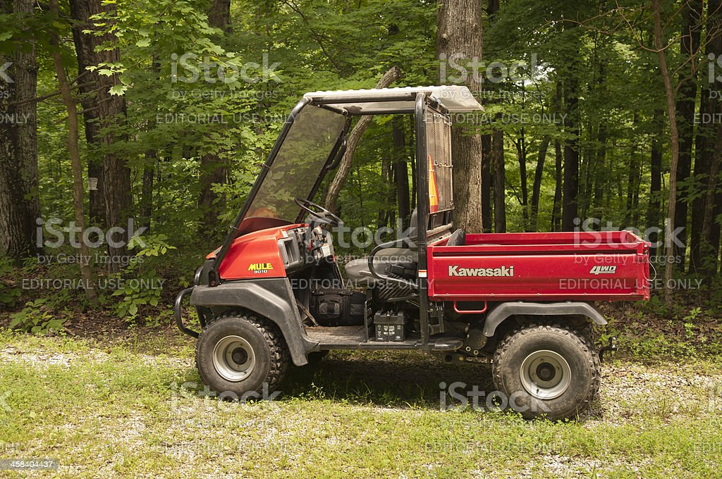 Kawasaki Mule Utility Vehicle stock photo