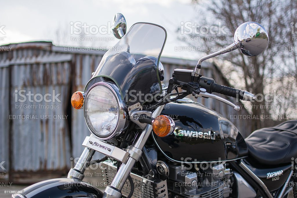 Kawasaki Zephyr motorcycle stock photo