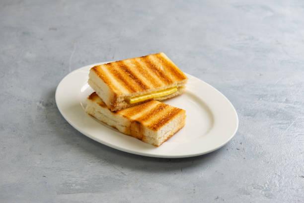 kaya toast with butter, malaysian style stock photo