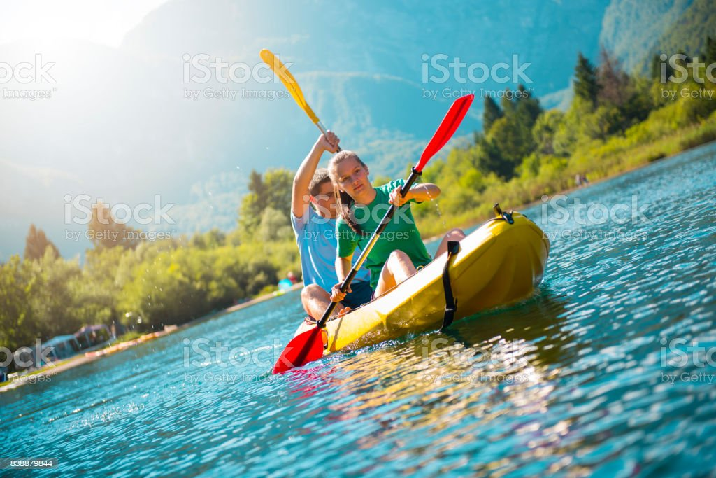 Kayak adventure stock photo