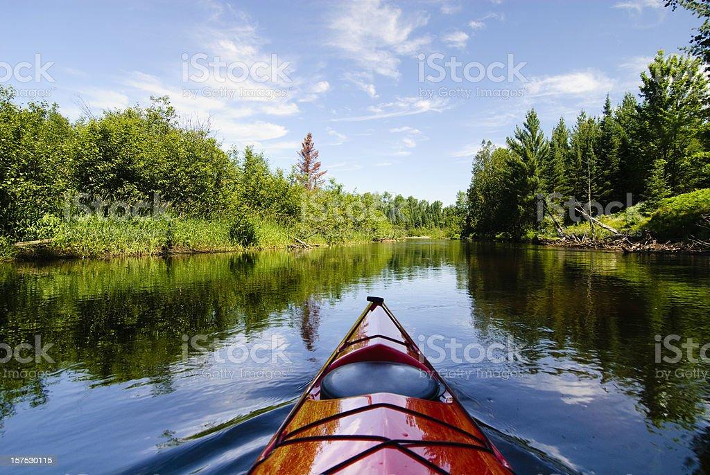 Kayak and River royalty-free stock photo