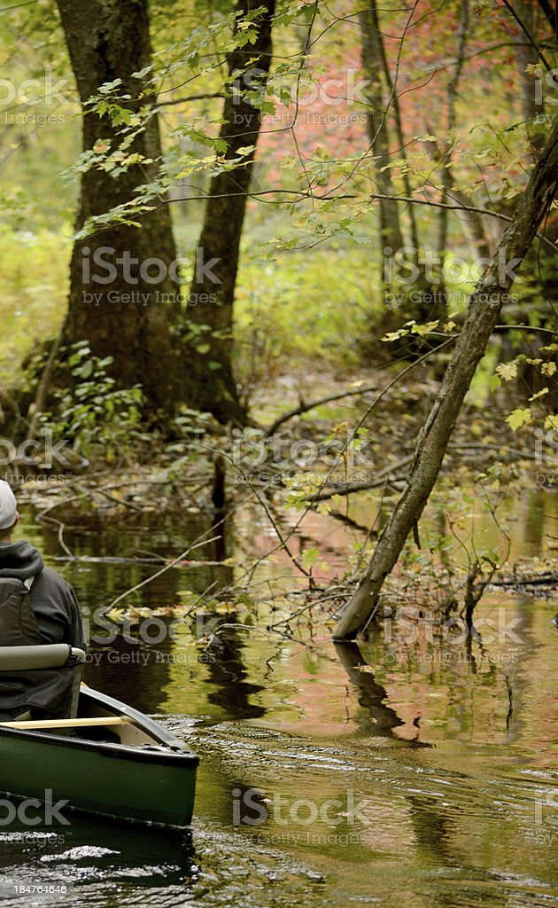 kayak during fall  and nature in Maine royalty-free stock photo