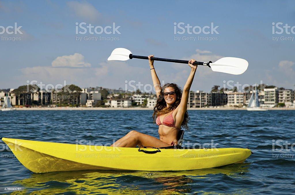 Kayak girl royalty-free stock photo