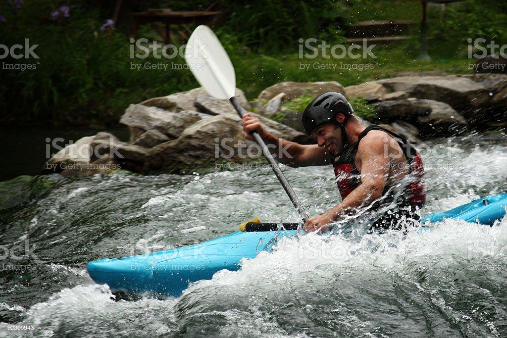 Kayak in falls royalty-free stock photo