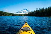 istock Kayak in mountain lake, Mt. Hood, Oregon 186120114