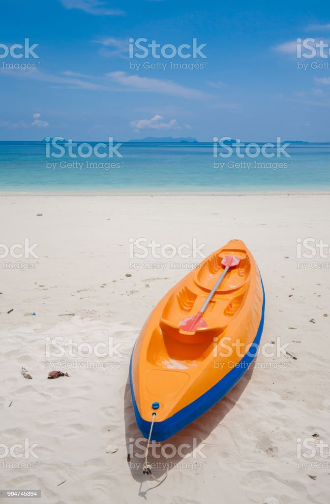 Kayak in the beach royalty-free stock photo
