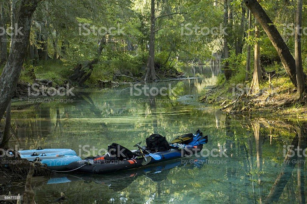 Kayak in the Spring stock photo