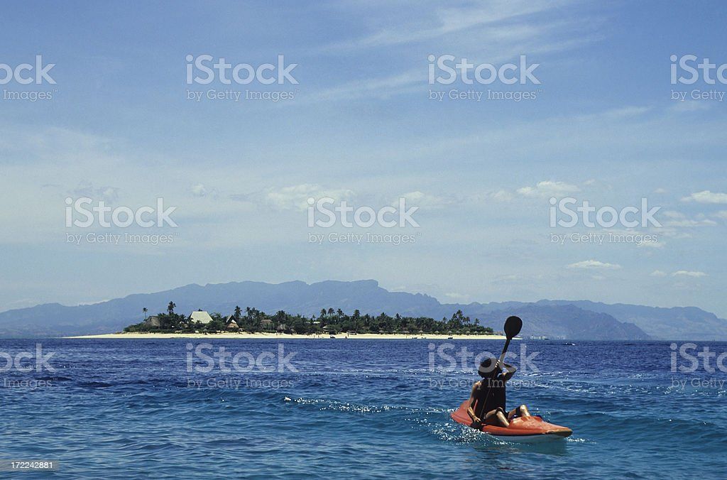 Kayak & Island royalty-free stock photo