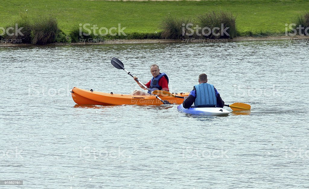 Kayak lesson 1 royalty-free stock photo