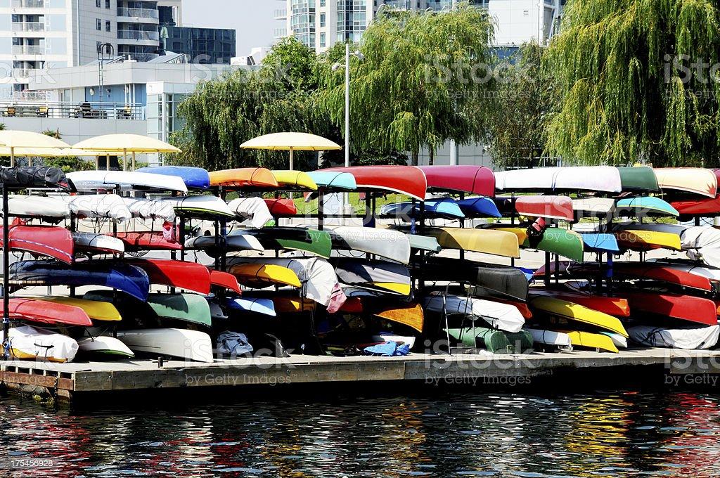 kayak lines royalty-free stock photo