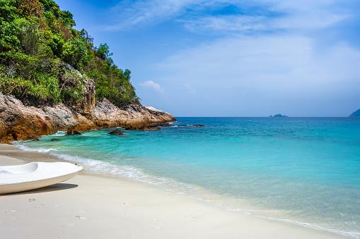Kayak  on Romantic beach, Perhentian Islands, Terengganu, Malaysia