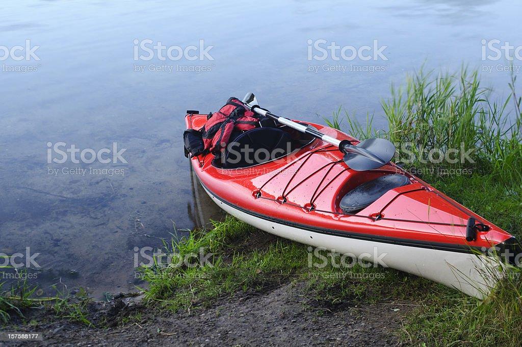 Kayak on Shore royalty-free stock photo