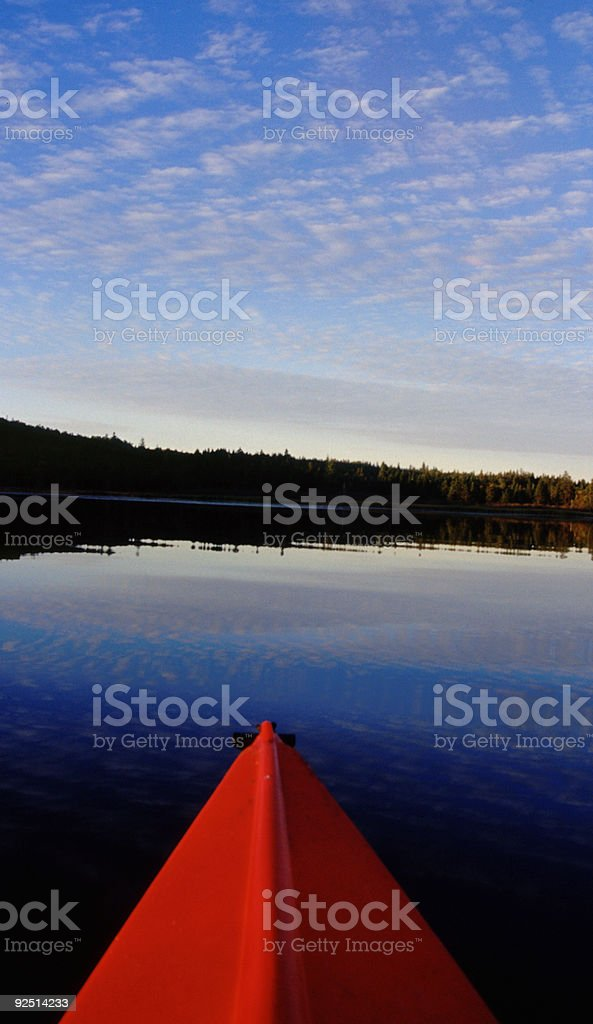 Kayak on the Lake royalty-free stock photo