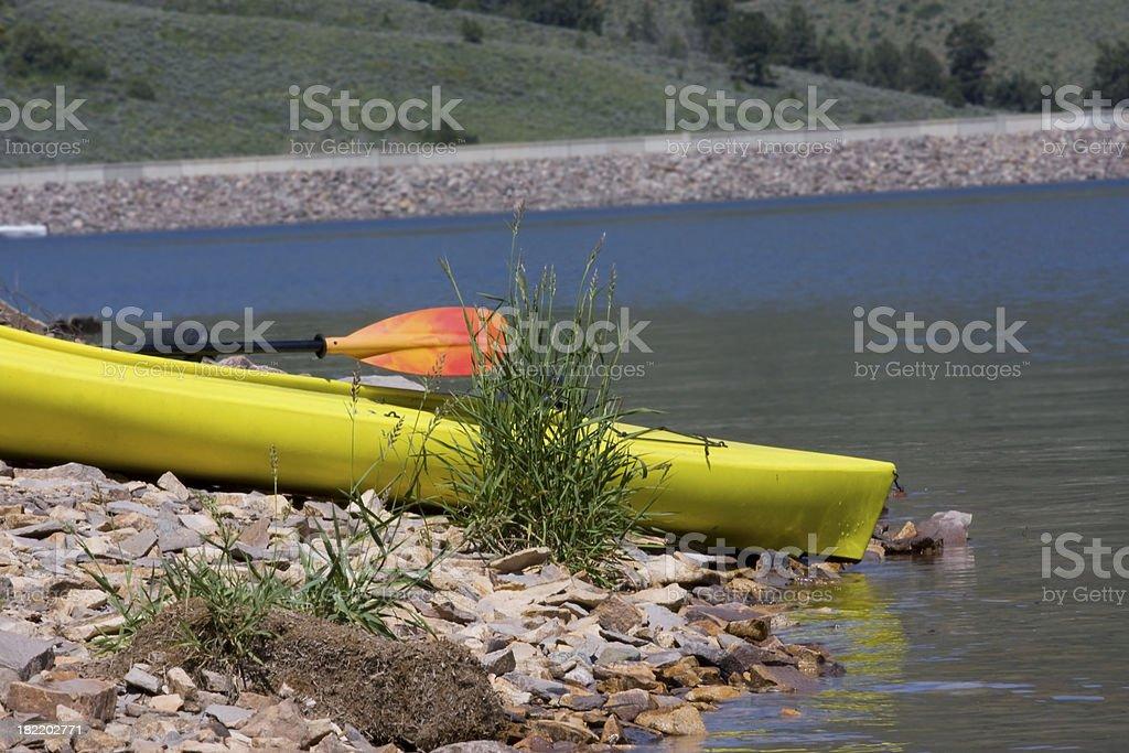 Kayak on the shore royalty-free stock photo