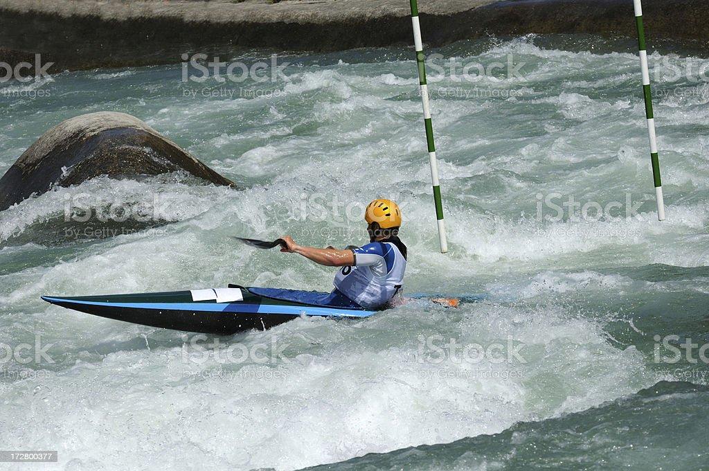 Kayak race royalty-free stock photo