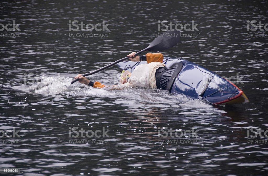 Kayak accessible en fauteuil roulant photo libre de droits