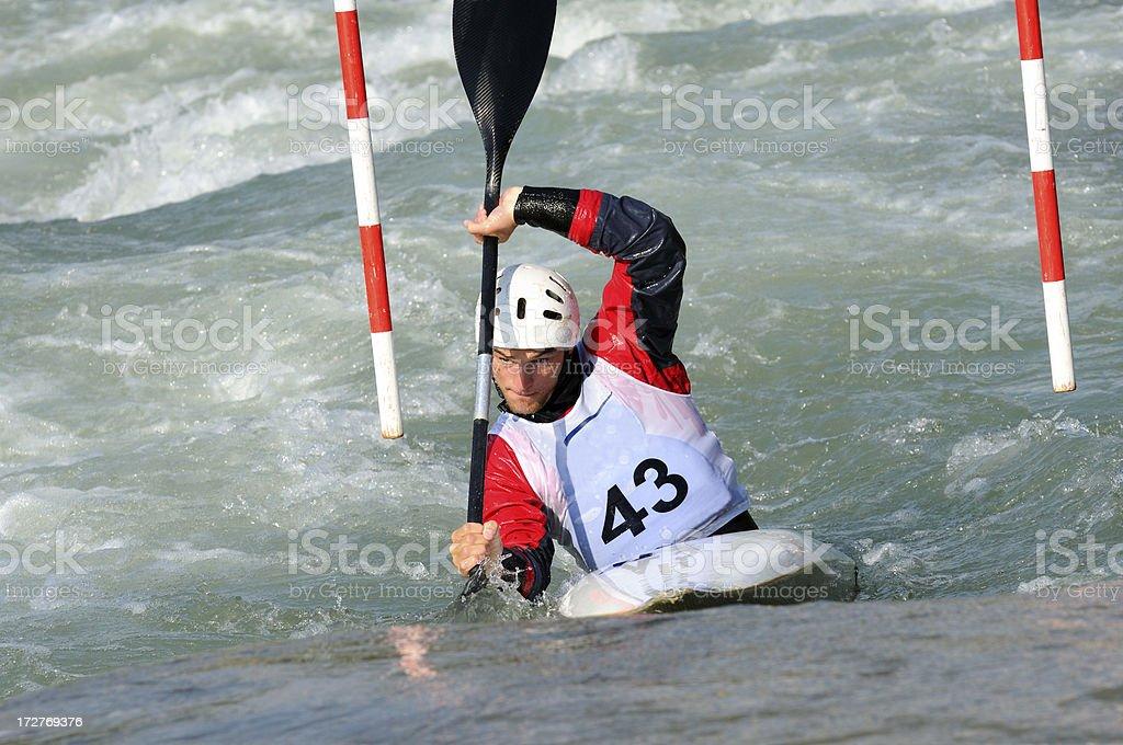 Kayak slalom royalty-free stock photo